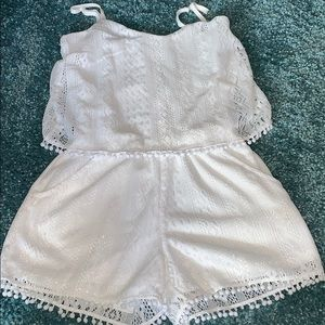 Extremely cute white lace romper